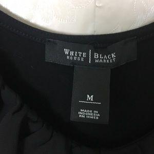 White House Black Market Tops - White House Black Market Black Ruffled Top